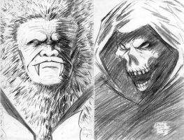 Skeletor and Grizzlor from He-Man and She-Ra by DougSQ
