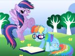 commision for davaba19: Twilight and Dash Switch by Willemijn1991
