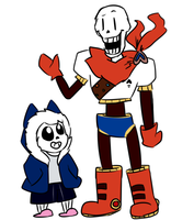 My Skelebros by Cookie-and-her-foxes