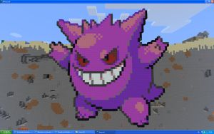 Gengar On Minecraft by Miccopicco