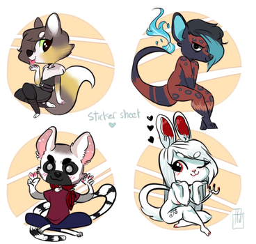 Sticker Sheeet commision cutie poots by temporaryWizard