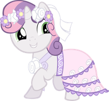Sweetie Belle dancing vector by AnEvilZebra