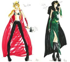 Thor.Loki_Concept Dress by AlyTheKitten
