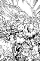 Fantastic Four Cover by ebas by tannerwiley