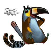 Plate-Billed Mountain Toucan by Loryska