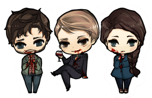 hannibal chibis by battlerobots