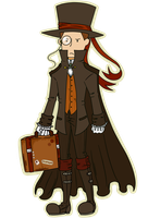 ProfessorLayton Steampunk by TeaDeCat