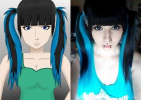 Anime and real Me ... by BlackBloodFire
