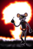 DANGER MOUSE SPEED PAINTING+VIDEO by IDROIDMONKEY