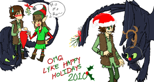 HTTYD Christmas Doodles by sailor663