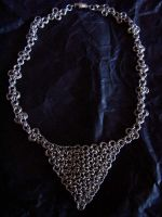 Finished Chain Mail Choker by meliruth