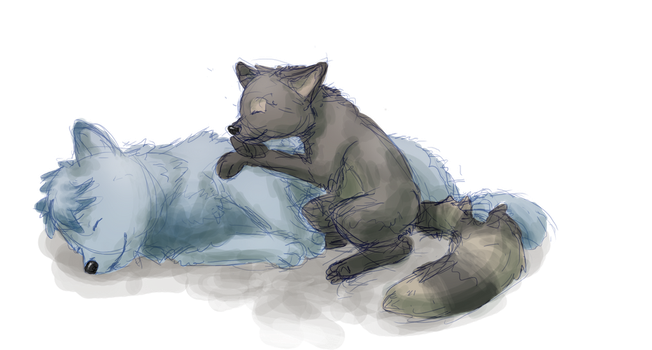 Napping Puppies by wanton-fox
