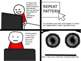 Never repeat the pattern by legoman1203