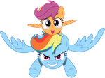 Vector Rainbow Dash and scootaloo happy by Kyss.S by KyssS90