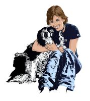 A Girl and her Dog by dougans