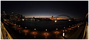 Sydney Harbour by night by jaydoncabe