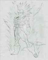 Vegeta SSJ2 Ascended Grade 2 sketch by DavidsKovach