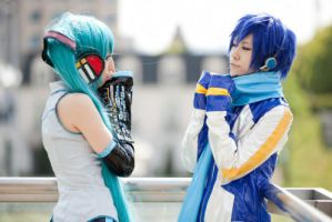 Kaito to Miku-chan by MLZR