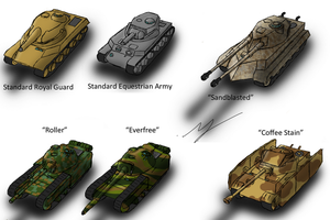 Equestrian Tank Camouflage by ZatGeneral