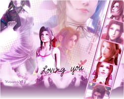 Aerith Gainsborough wallpaper by ladylucienne