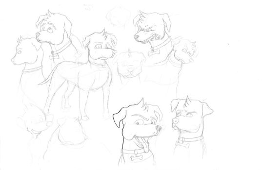 Drawings for a scrap childrens book by cade11
