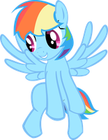 Short-haired Rainbow Dash by rorycon