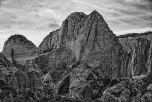 Red Cliffs and the Dome BW ORG by mjohanson