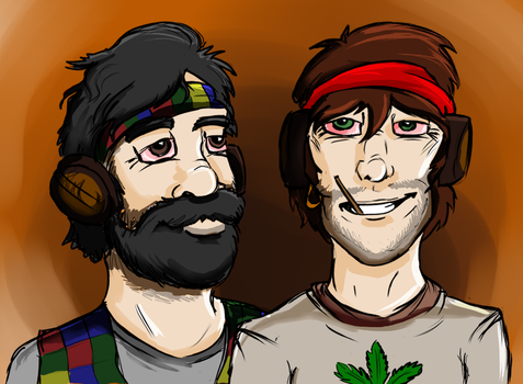 Goose and Danny Dinks by LadyGina