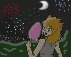 watching the fireworks by Engelmoon