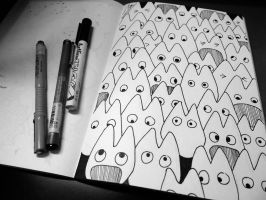 Sketch - The Doodles 6 ~ Totoro by sorali04