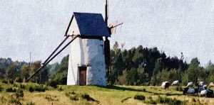 The Windmill      Painted 2001 by eskile