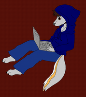 Chewy on his Laptop - Final by WindblownRebel