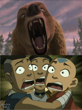 Team Avatar's Scared Of The Bear from AandO by Jared1994