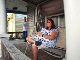 Rob and Melanie on Porch by omniferous