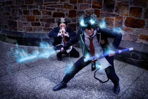 Ao no Exorcist - Team Fight by Majin-sama