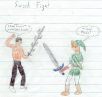 Sword fight by doomrater