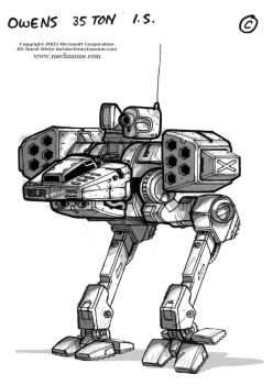 MechWarrior 4 Owens front view by Mecha-Zone