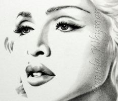 Madonna, Close-Up by LightCircleArt