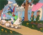 Us can't believe court jester ride on Easter bunny by Junk-nu