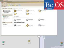 BeOS v1.4b RC1 GUI Replacer by Fizical