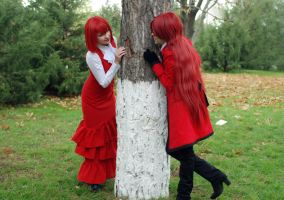Madam Red and Grell Sutclif by Mionshi