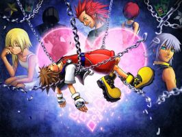 KINGDOM HEARTS: Chain of Memories Banner by Conangiga