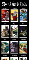 2014 - A Year in Review by Rainbow-Foxy