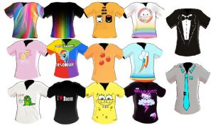 Mmd Epic Shirt Pack 35 Shirts by MikiMikuMMD