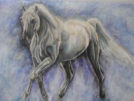 Horse in watercolour by Its-real-to-us