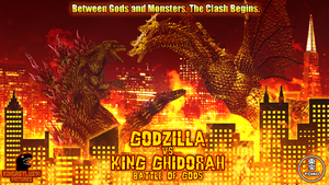 Godzilla vs. King Ghidorah - Battle of Gods Poster by KingAsylus91