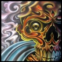 skull airbrush and pencils by MPDesign