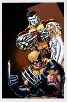 X-Men Pin-up color by logicfun
