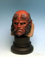 hellboy head by sculptart31