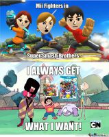 Mii Fighters In Super Smash Bros. by rabbidlover01